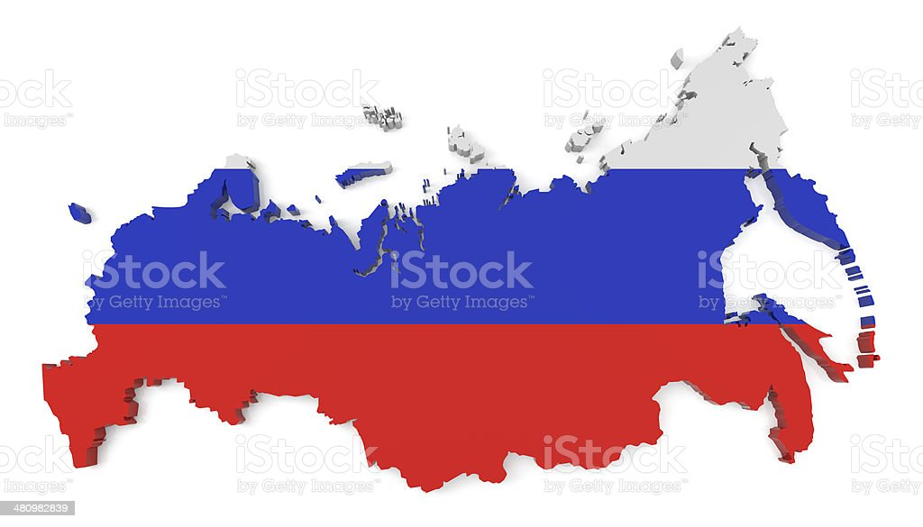 Russian Map stock photo