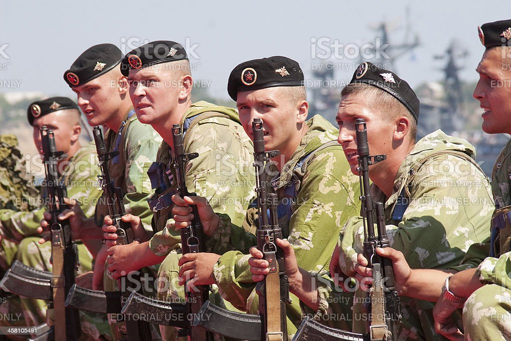 Russian marines stock photo