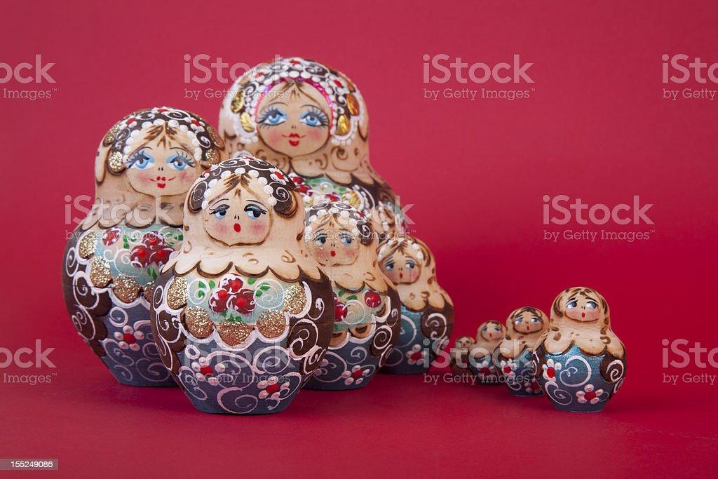 Russian matrioshka set royalty-free stock photo