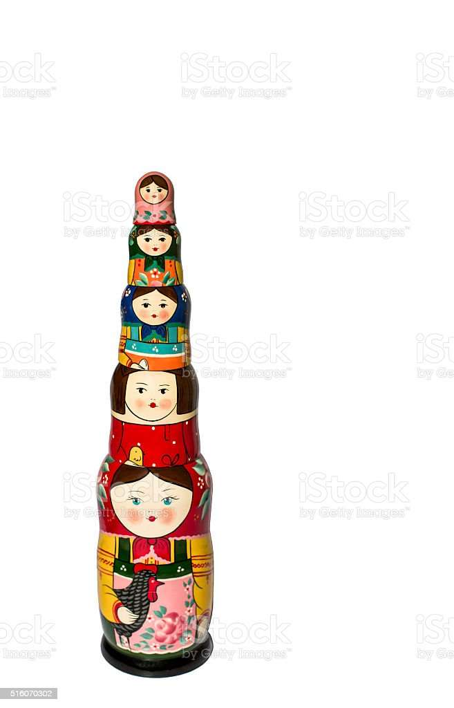 Russian matroshka dolls stock photo