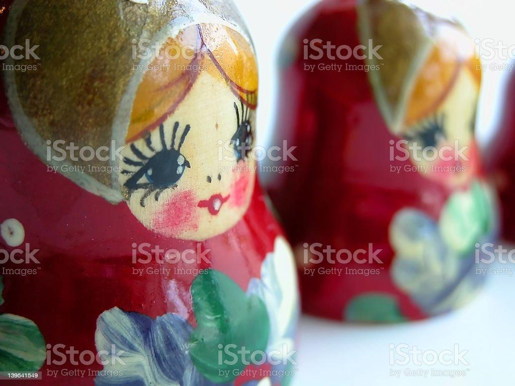 Russian Matroyska Dolls royalty-free stock photo