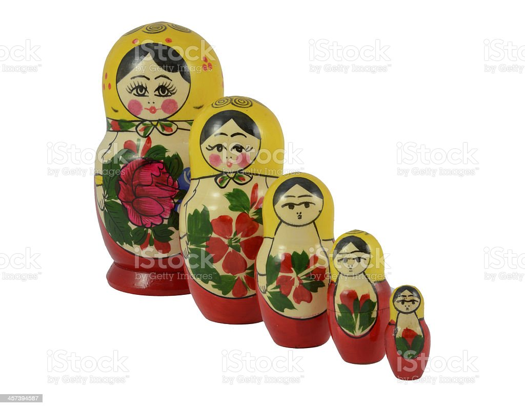 Russian Matryoshka Dolls royalty-free stock photo