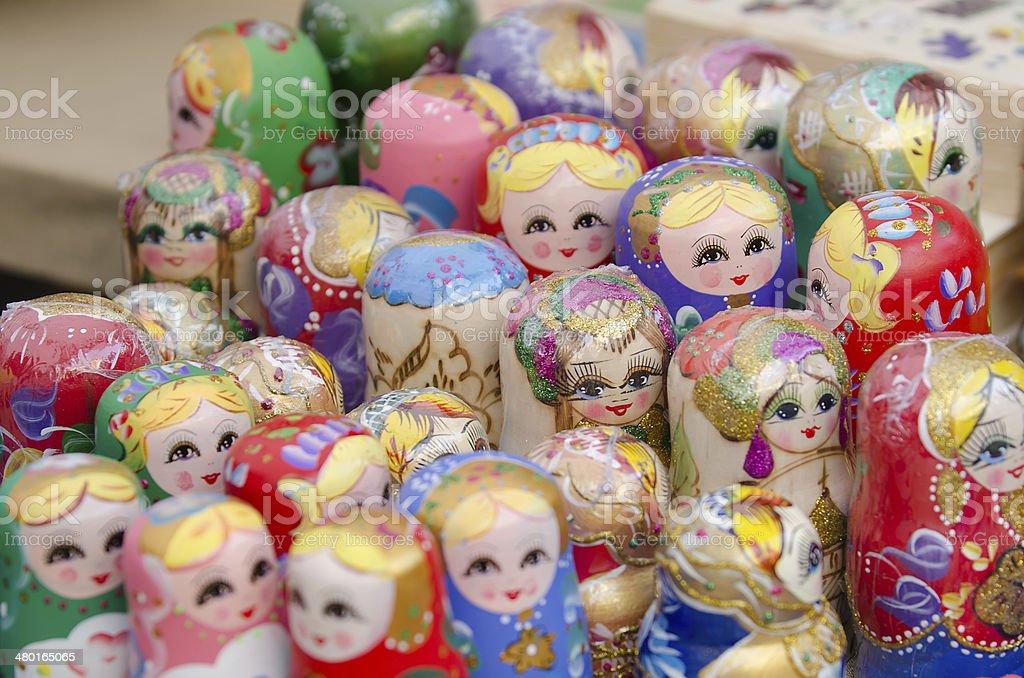 Russian Matryoshka dolls royalty-free stock photo