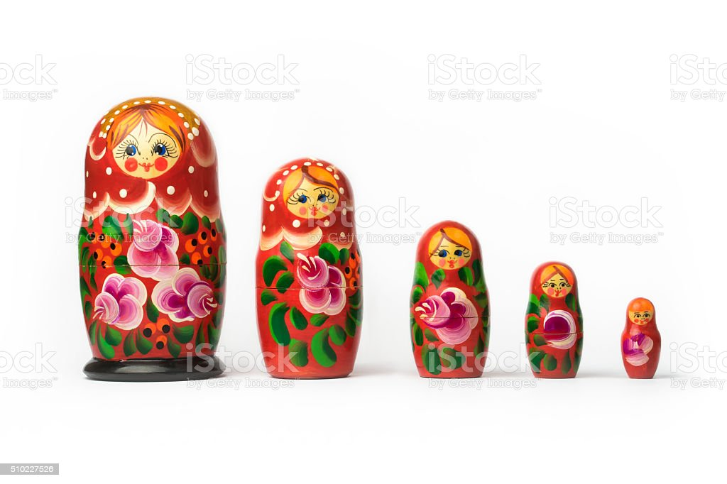 Russian matryoshka stock photo