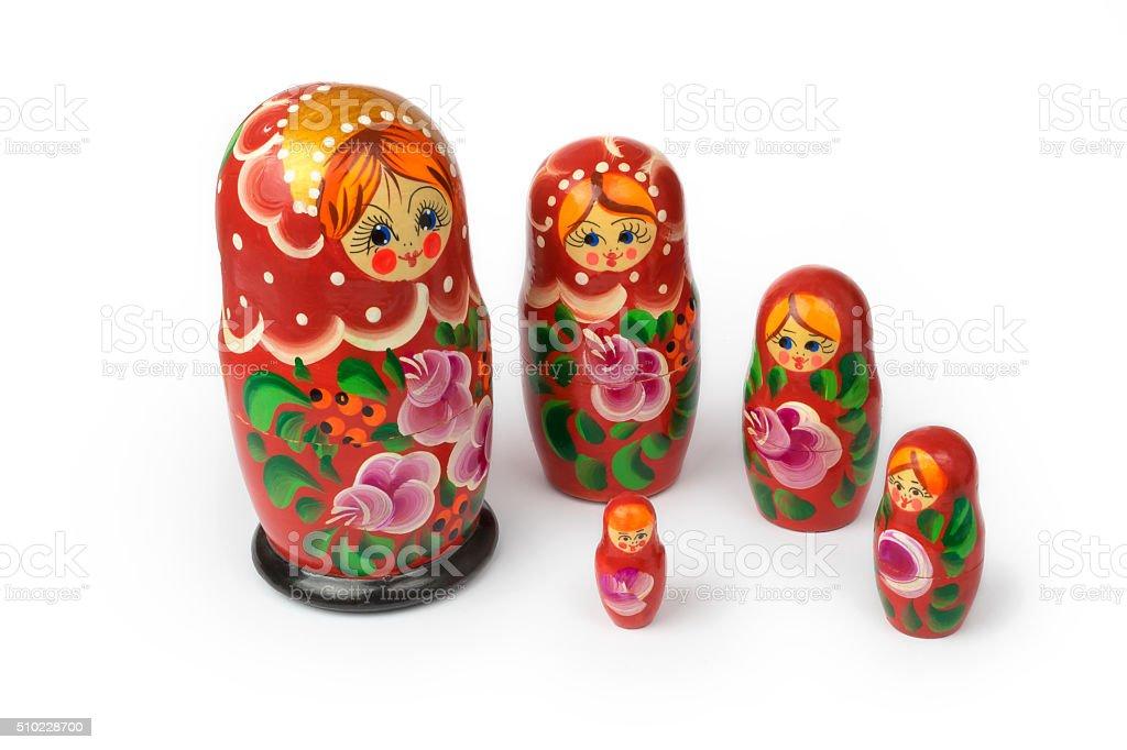 Russian matryoshka stock photo