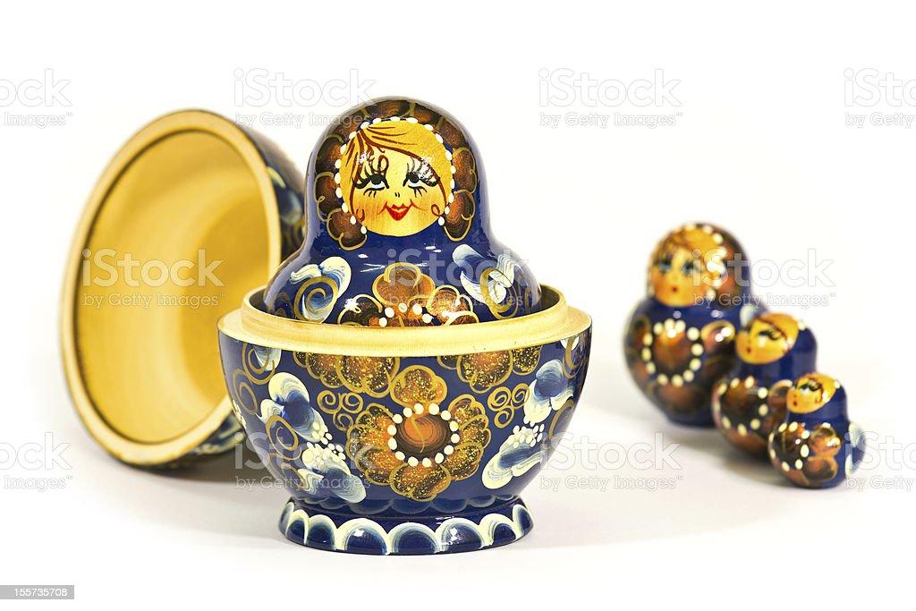 Russian Matryoshka Toys royalty-free stock photo