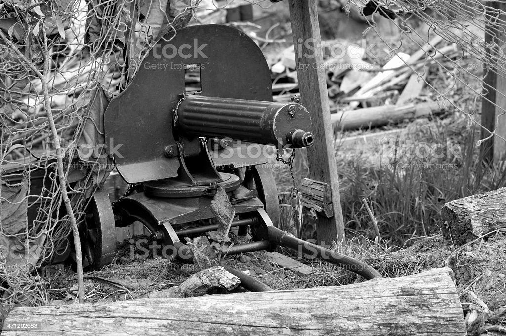 WW2 Russian Maxim Machine Gun royalty-free stock photo