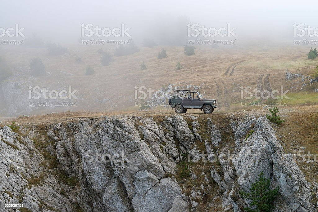 Russian military jeep (UAZ) stock photo