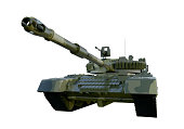Russian military tank T-90. isolate on white background. 3d