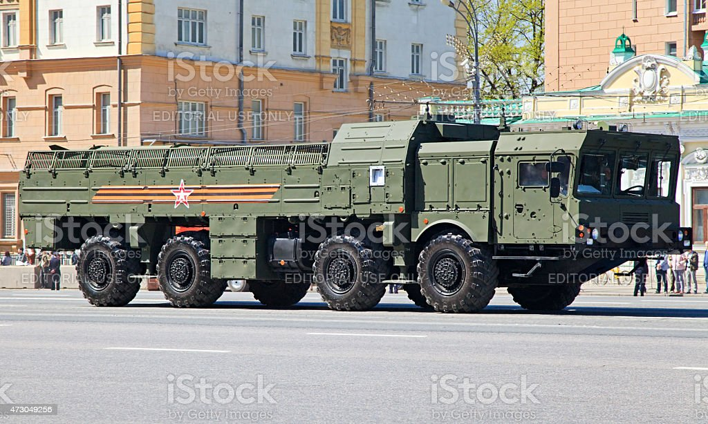 Russian mobile missile system Iskander stock photo