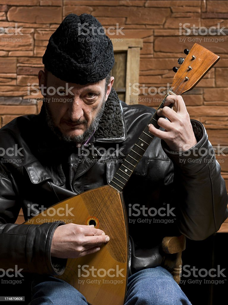 Russian musician stock photo