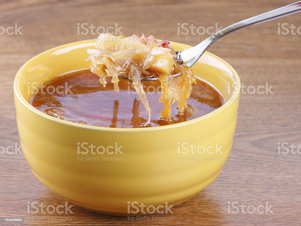 Russian national soup (borscht) royalty-free stock photo