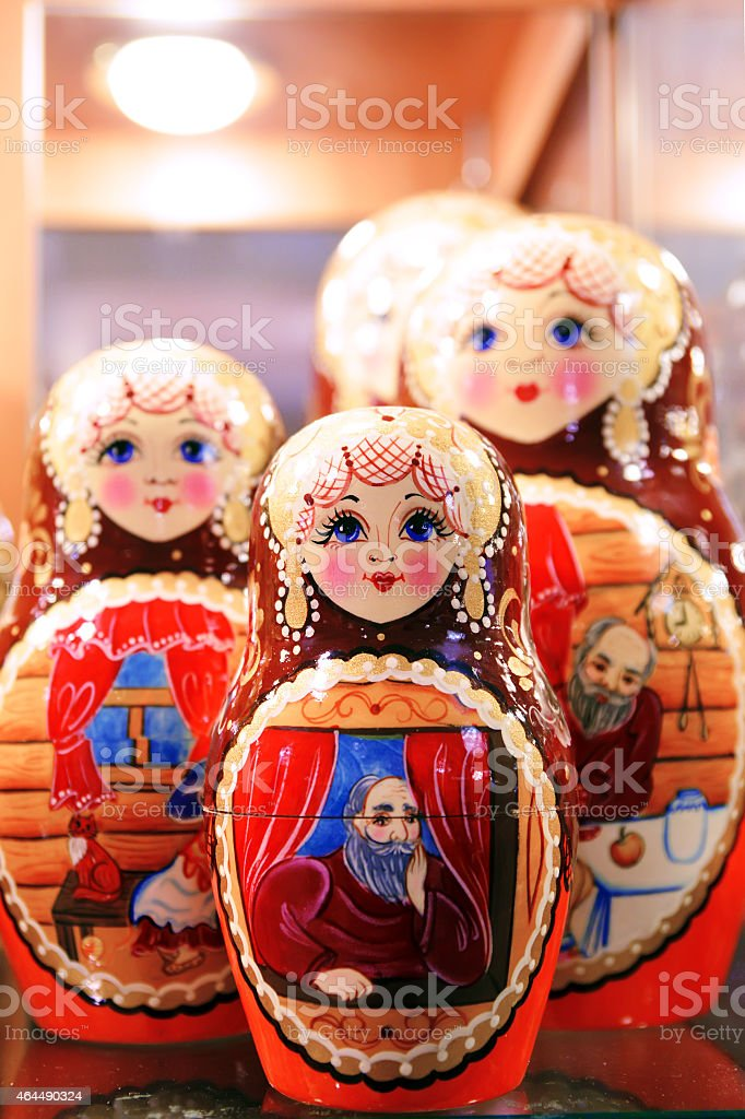Russian National Toy stock photo