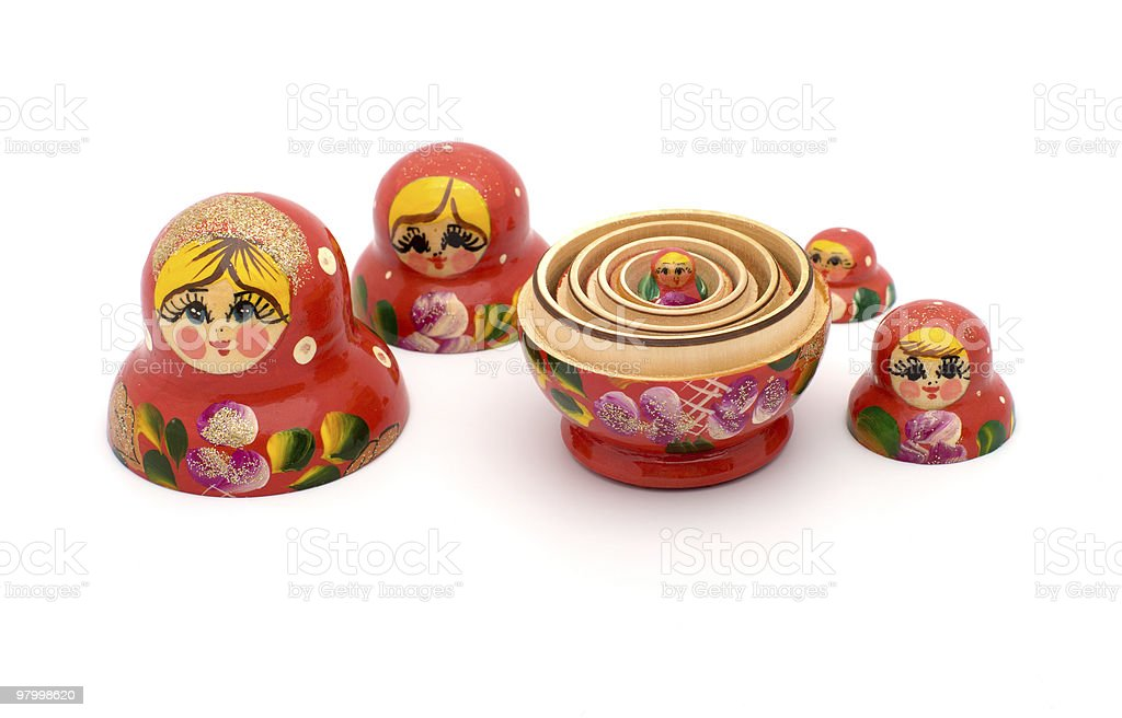 Russian nested dolls. royalty-free stock photo