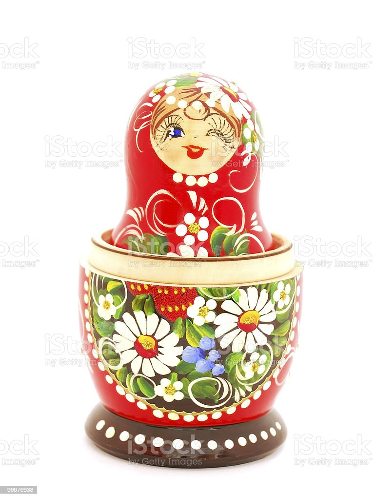 Russian Nesting Doll stock photo