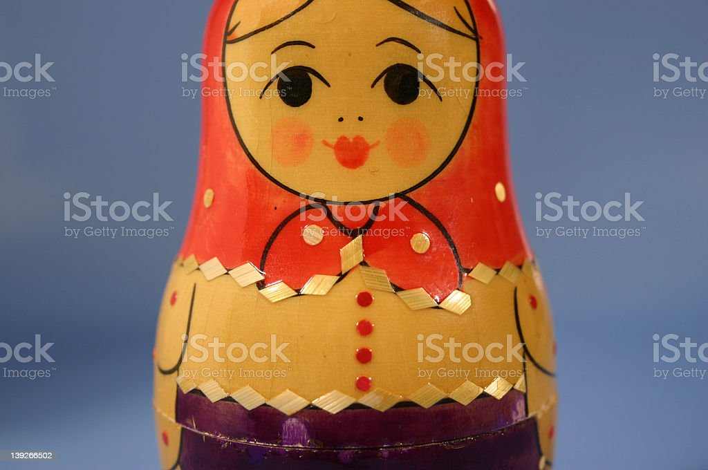 Russian nesting doll red royalty-free stock photo