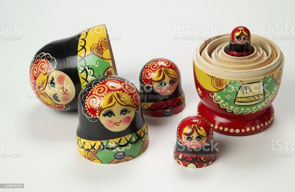 Russian Nesting Dolls 2 royalty-free stock photo
