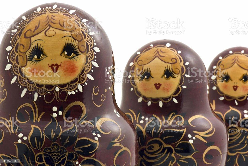 Russian Nesting Dolls also known as Babushkas stock photo
