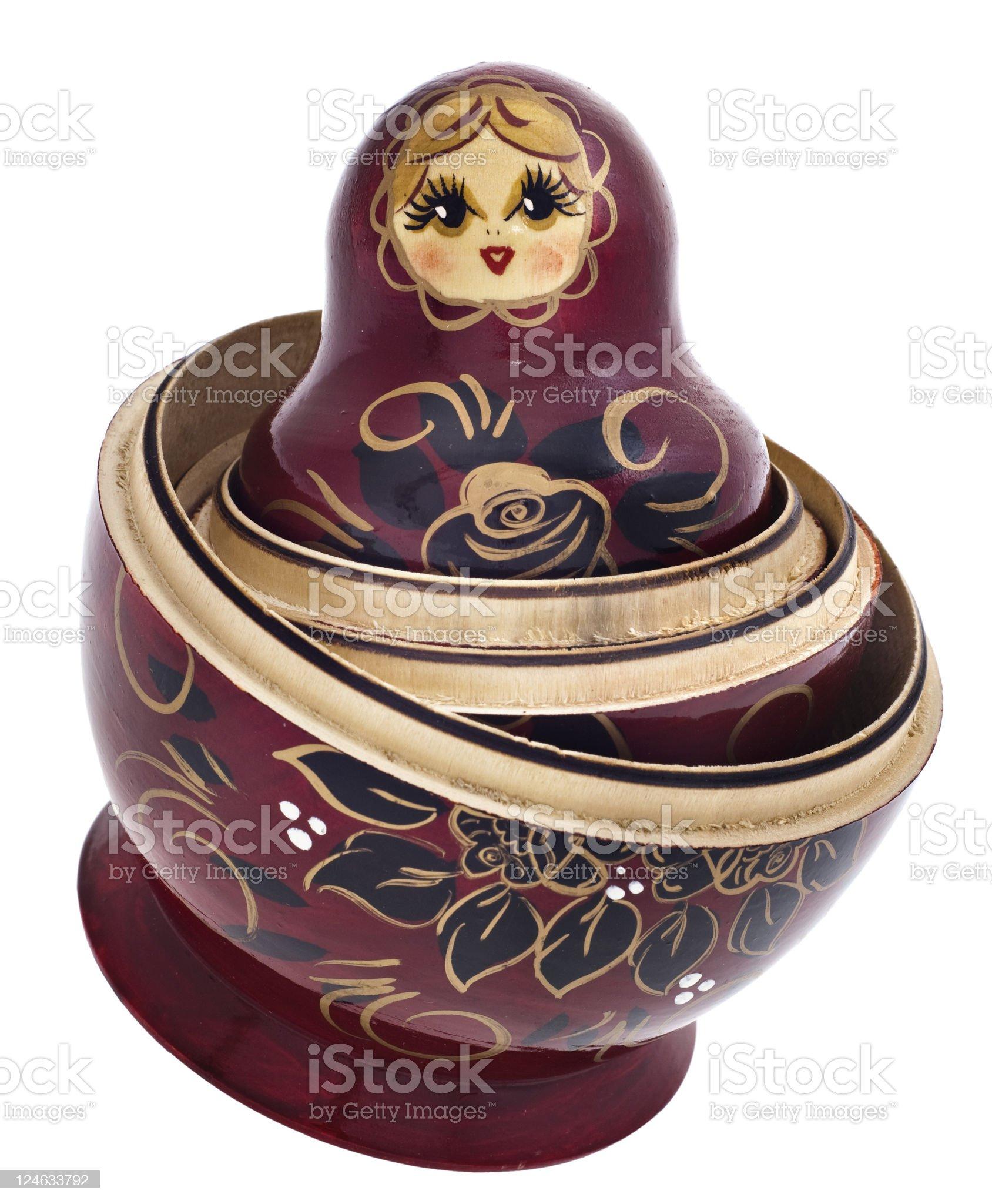 Russian Nesting Dolls also known as Babushkas royalty-free stock photo