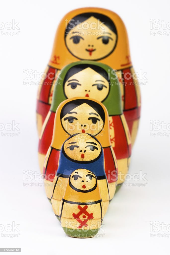 Russian Nesting Dolls royalty-free stock photo