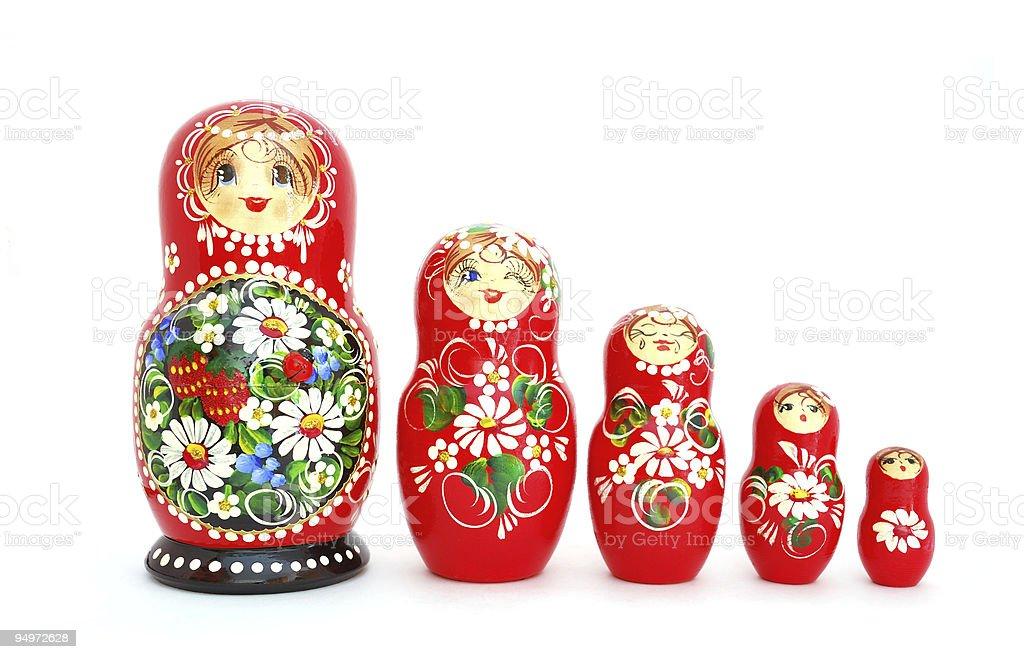 Russian Nesting Dolls royalty-free stock photo