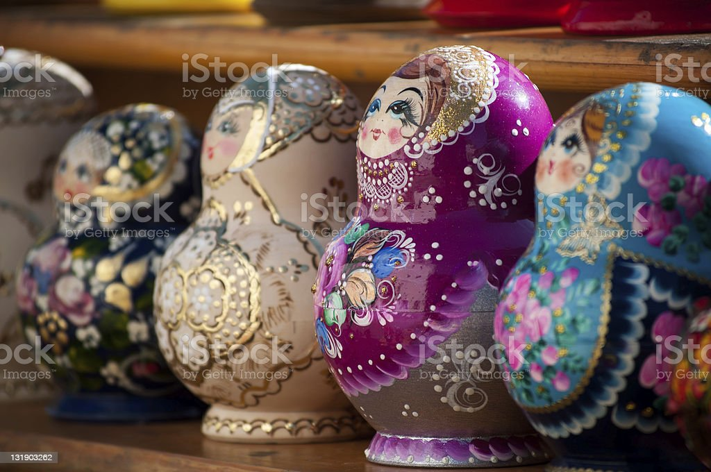 Russian nesting dolls.Matryoshka.Souvenir. royalty-free stock photo