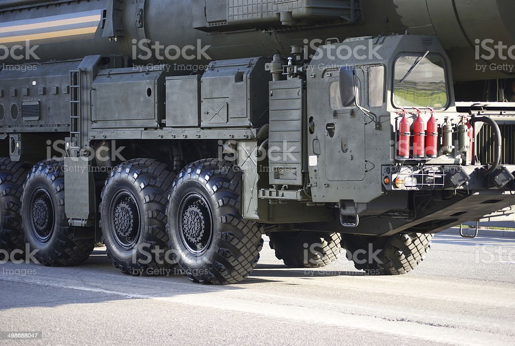 Russian nuclear missile Topol-M stock photo