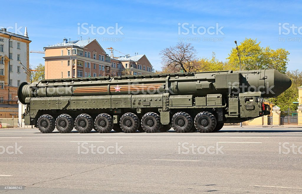 Russian nuclear missile Yars, Moscow, Russia stock photo