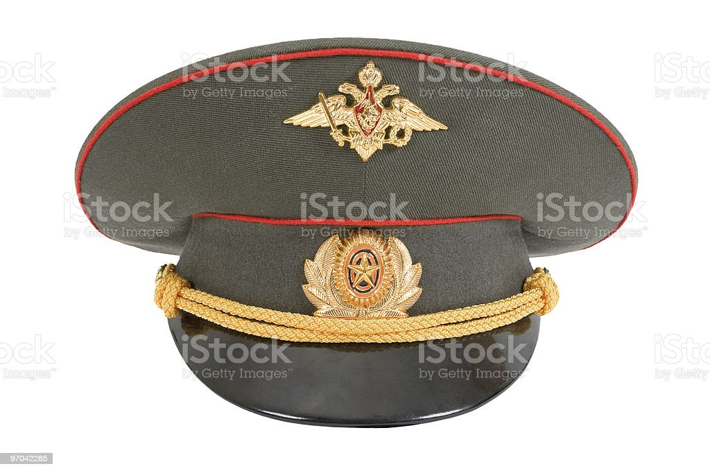 Russian Officer Cap stock photo