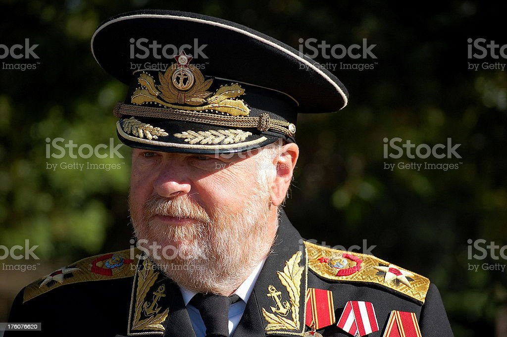 Russian Officer. stock photo