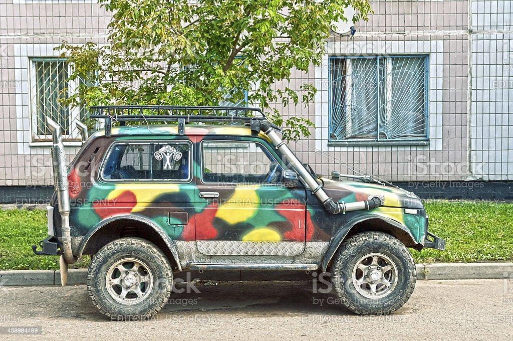 Russian off-road SUV - Lada Niva 4x4 stock photo