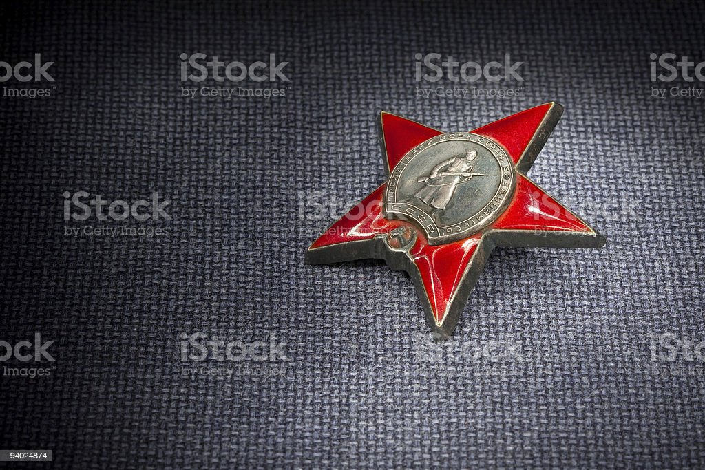Russian Order Red Star stock photo