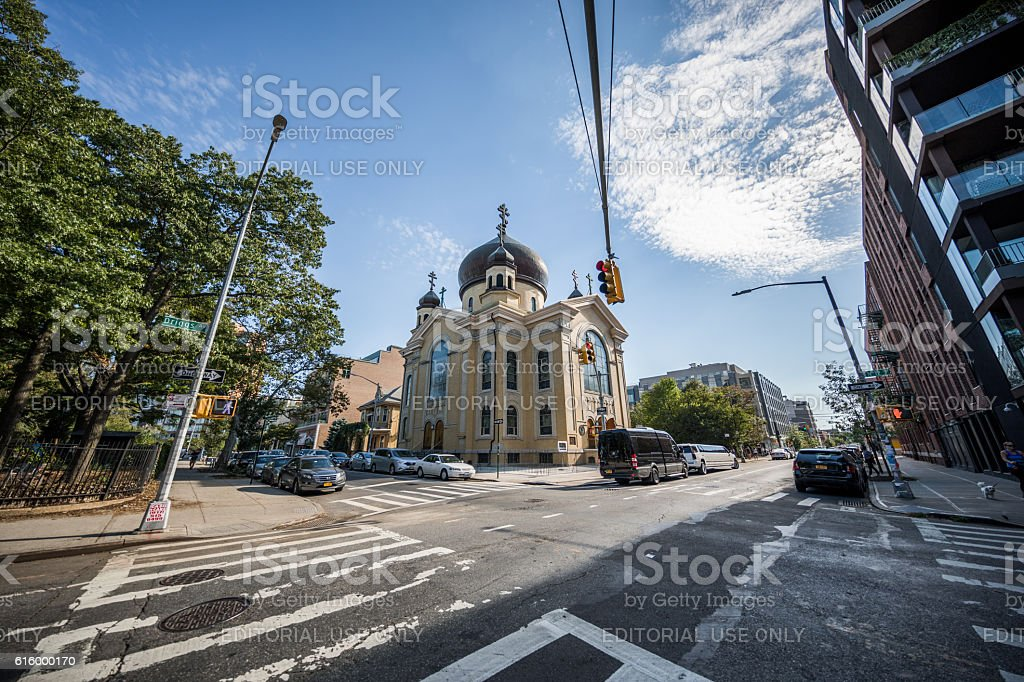 Russian Orthodox Cathedral, Brooklyn, New York City, United States stock photo