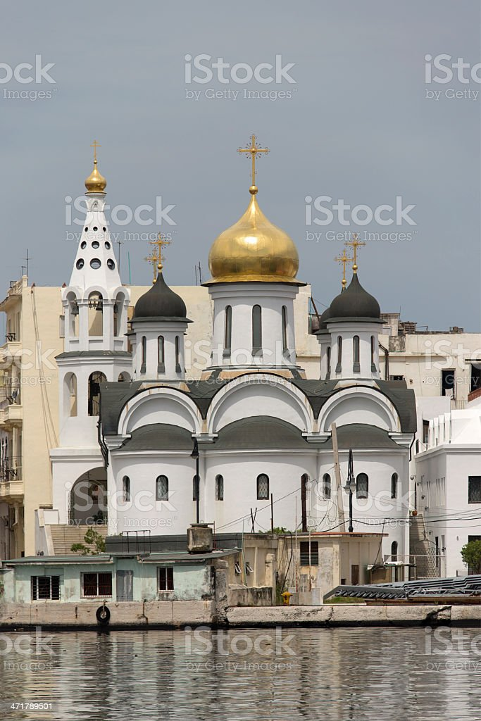 Russian Orthodox Cathedral royalty-free stock photo