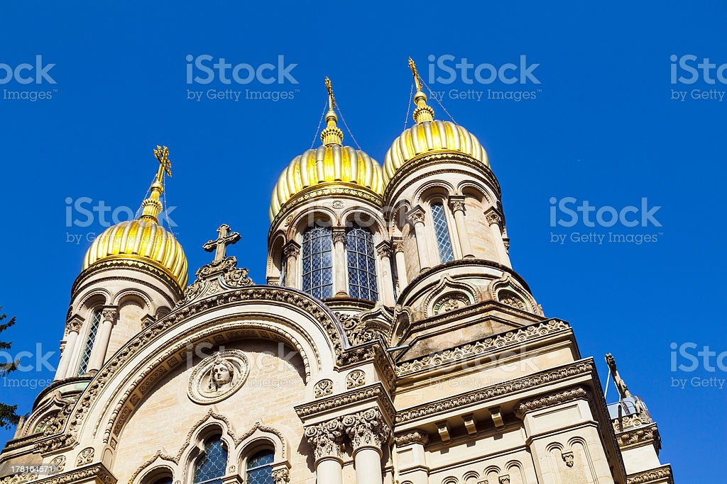 Russian orthodox chapel Wiesbaden, Germany royalty-free stock photo