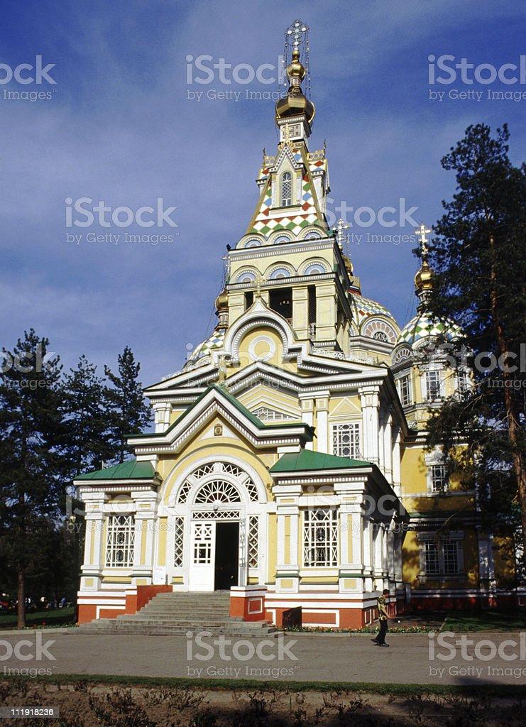 Russian Orthodox Church, Almaty, Kazakhstan stock photo