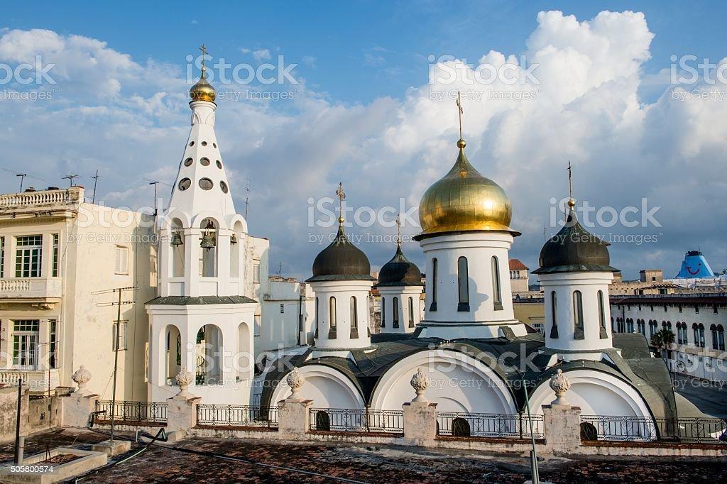 Russian Orthodox Church in Havana Cuba. stock photo