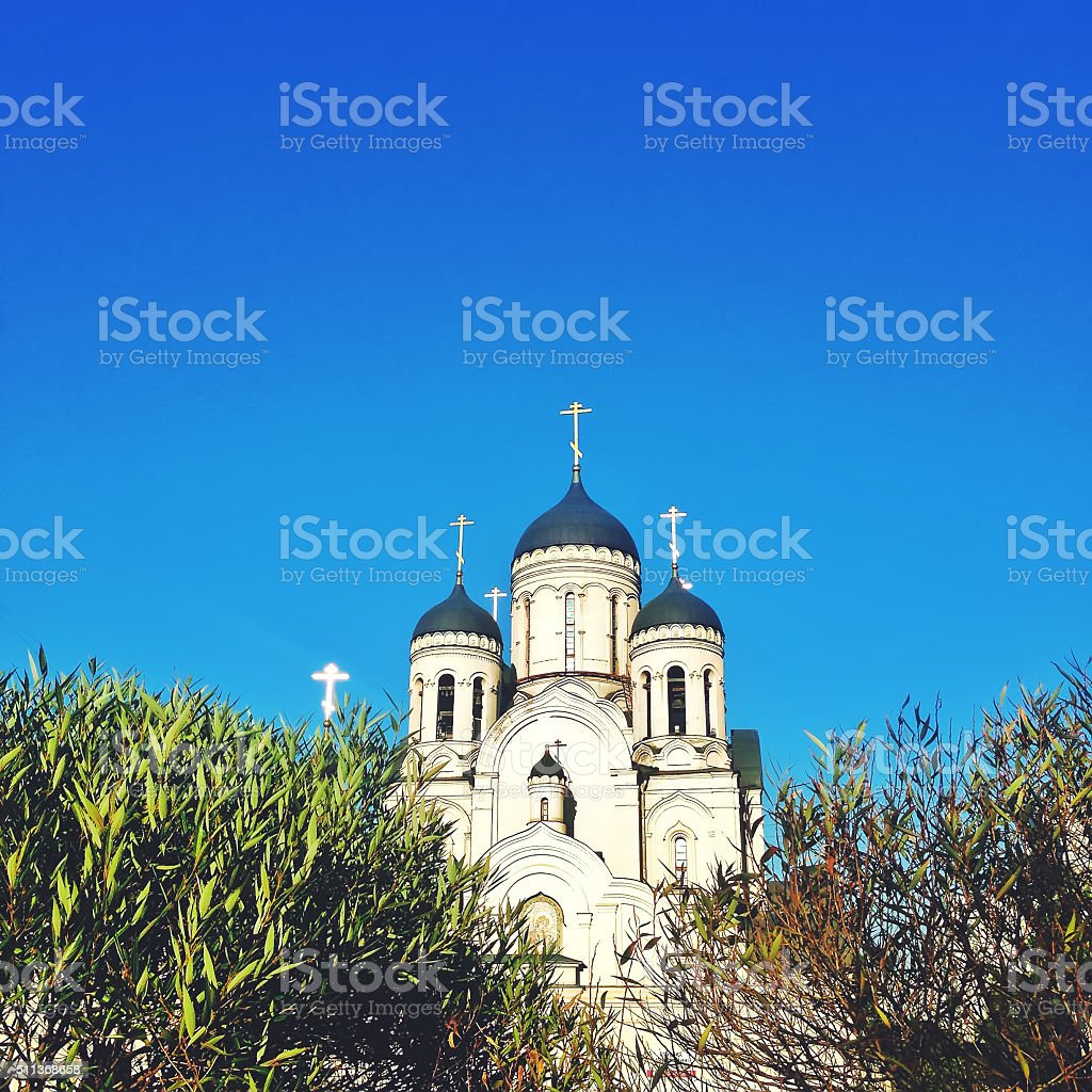 Russian Orthodox Church in Moscow, Russia stock photo
