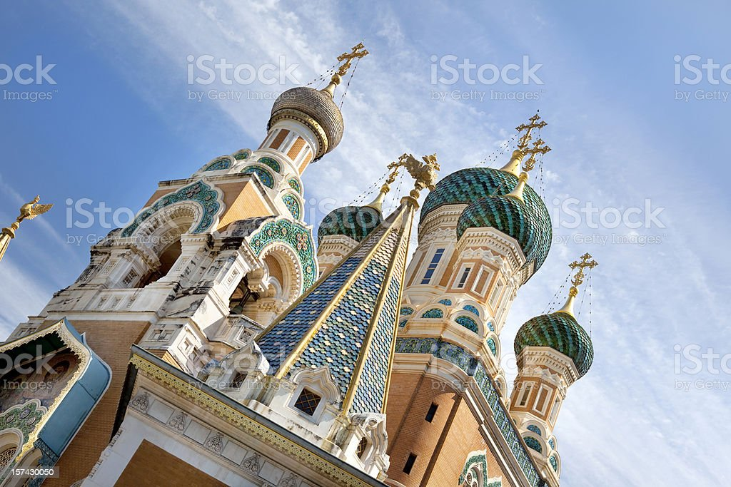 Russian Orthodox Church in Nice France stock photo