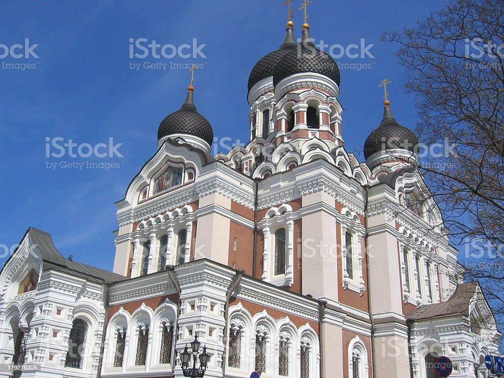 Russian orthodox church in Tallinn royalty-free stock photo