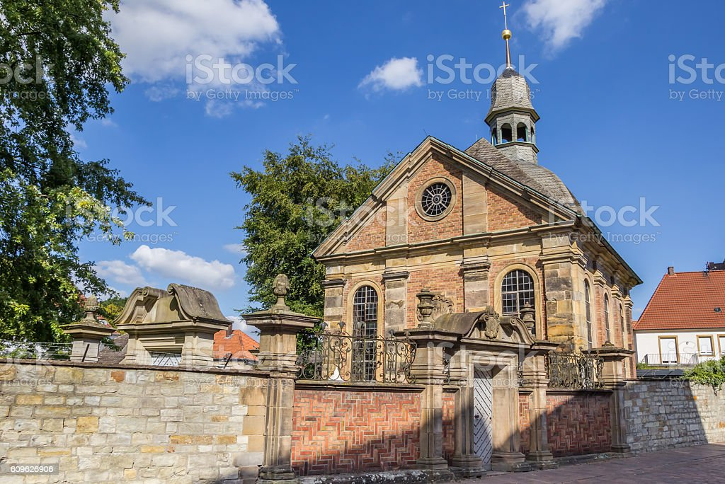 Russian Orthodox church in the center of Paderborn stock photo