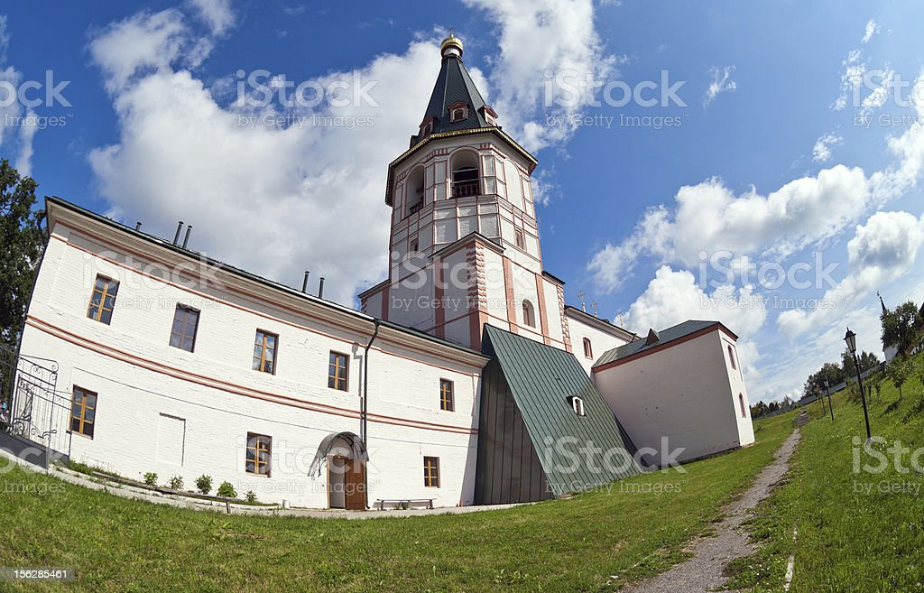 Russian orthodox church. Iversky monastery in Valday, Russia royalty-free stock photo