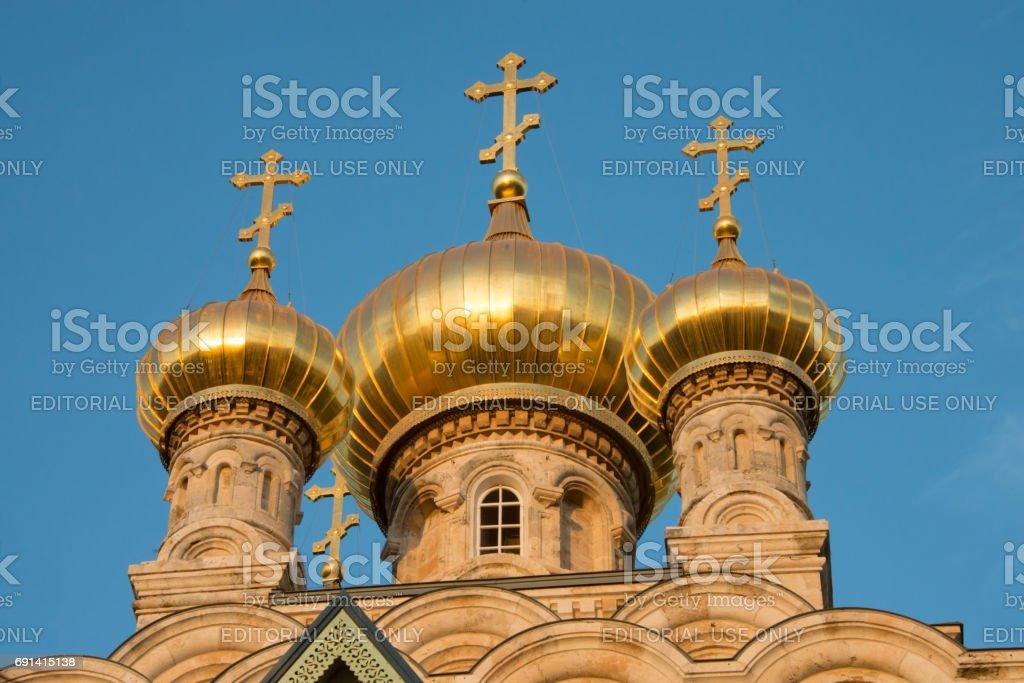 Russian Orthodox Church of Mary Magdalene, Jerusalem stock photo