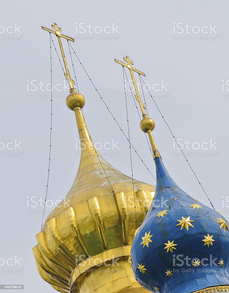 Russian Orthodox domes royalty-free stock photo