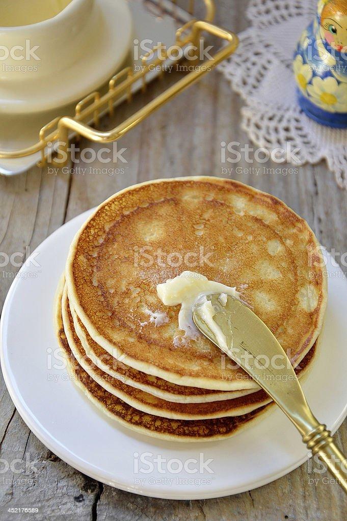 Russian pancakes (oladi) royalty-free stock photo