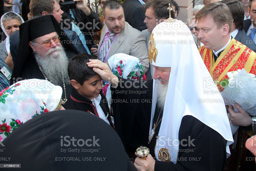Russian Patriarch Kirill Visits Thessaloniki stock photo