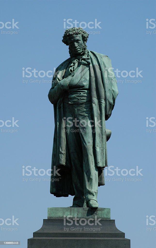 Russian Poet Pushkin royalty-free stock photo