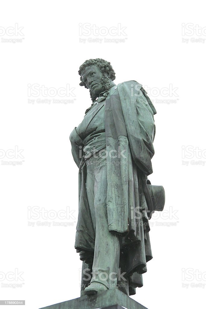 Russian Poet Pushkin royalty-free stock photo