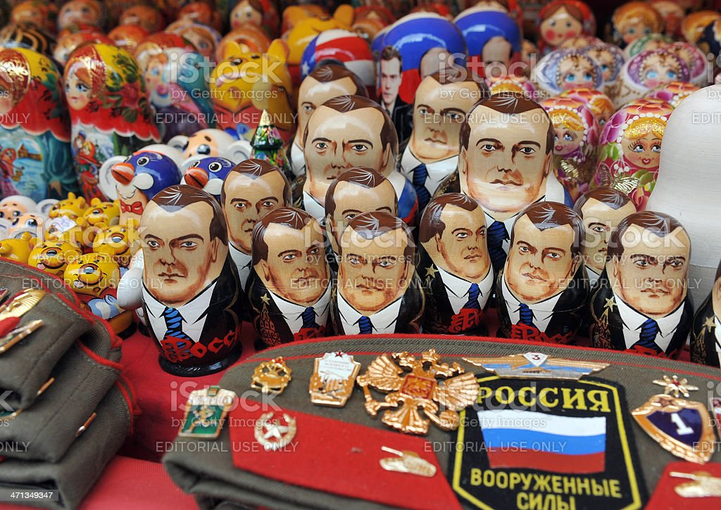 Russian political dolls royalty-free stock photo