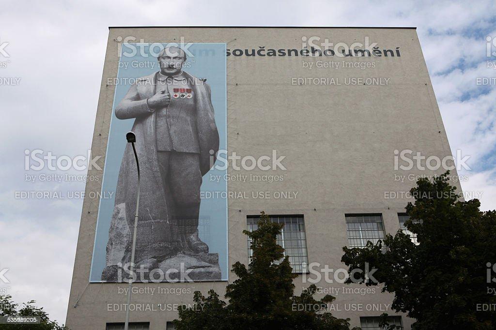 Russian president Vladimir Putin dressed as Josef Stalin stock photo
